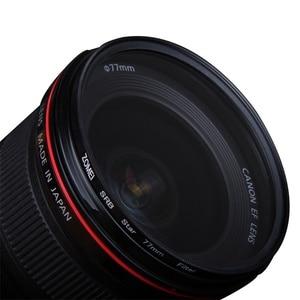 Image 2 - Filtry gwiazdowe zestaw obiektywów do aparatu 4/6/8 punktów Star Filtre 49/52/55/58/62/67/72/77mm do Canon Nikon akcesoria do aparatu Sony filtro