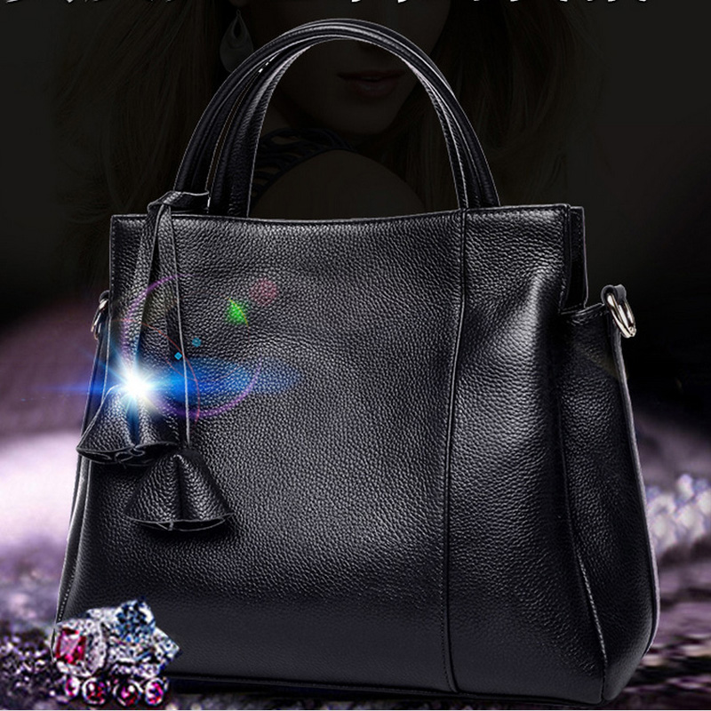 New Fashion Women Bags Brands Genuine Leather Bag Female Crossbody Messenger Shoulder Bag Tote Bag With Personality Hanged