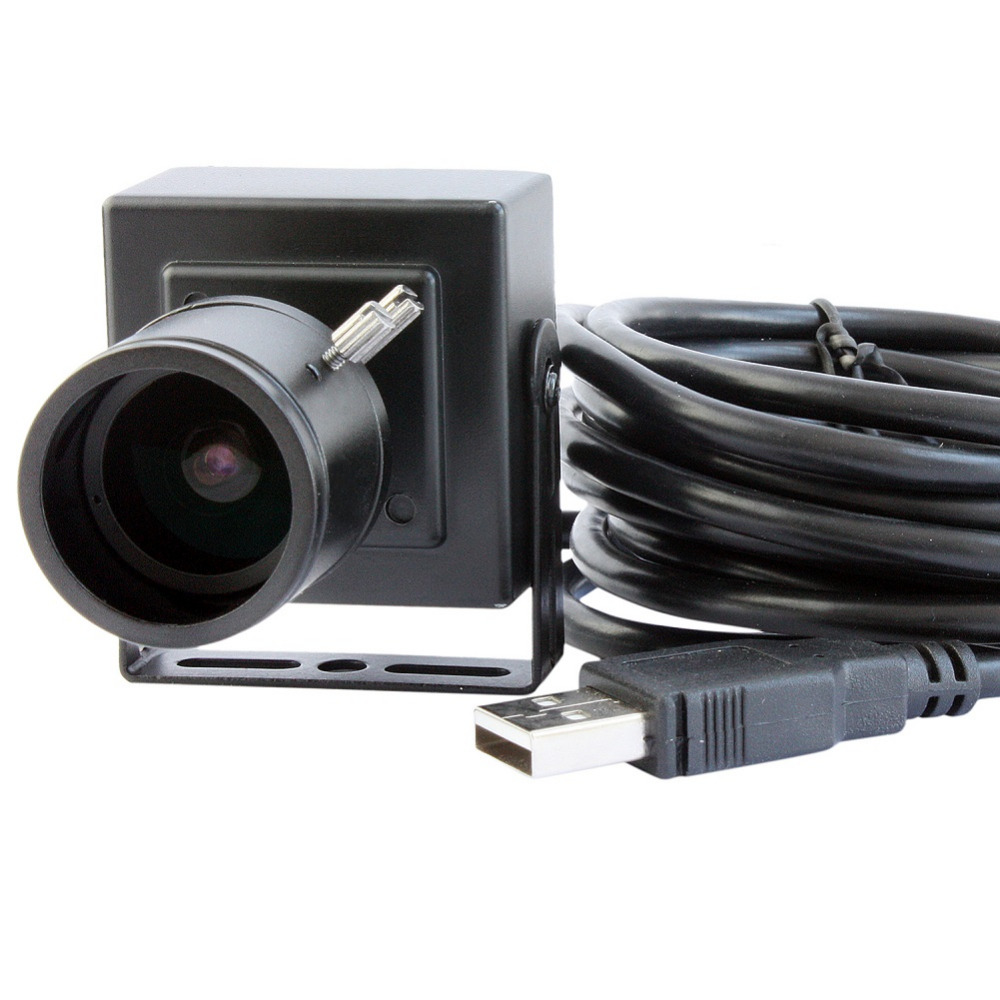 5.0 Megapixel 1/4 CMOS OV5640 MJPEG YUY2 Manual Zoom Varifocal 2.8-12mm Lens Mini Endoscope USB Camera Module Android with case