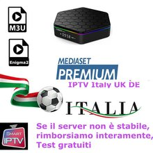 Iptv italy Subscription UK German French Spanish Sport Mediaset Premium for m3u Enigma2 IOS Smart TV PC Android box(China)