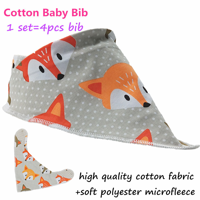 Special Design Cotton Baby Bib With Metal Snap For The Size;33*37 CM Baby Bandana Bibs Reusable Infant Bib Washable Saliva Towel