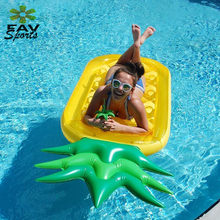 70'' Giant Inflatable Pineapple Pool Float Raft Summer Swimming Rings Flamingo Lounger Adult Pool Fun Toys(China)