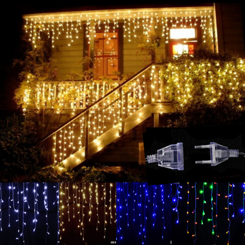 Lights & Lighting Knowledgeable Christmas Lights 5m Droop 0.4-0.6m 96leds Curtain Lamp Icicle String Lights New Year Wedding Party Garland Outdoor Decor