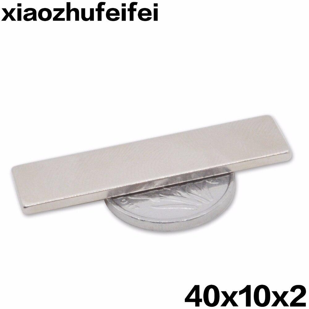 ⊰Caliente útil 100 unids 40x10x2mm bloque super fuerte Cuboid ...