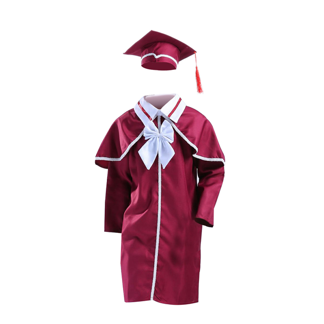Childrens Graduation Gown And Cap Doctoral Cap And Gown For Party