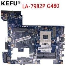 цены KEFU LA-7982P G480 motherboard For Lenovo G480 Laptop mainboard QIWG5-G6-G9 LA-7982P Test GM original motherboard