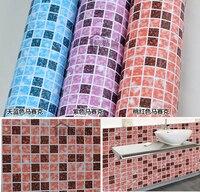 Vinile autoadesivo carta da parati mattonelle di mosaico border sticker cucina decorazione diy autoadesivo della parete