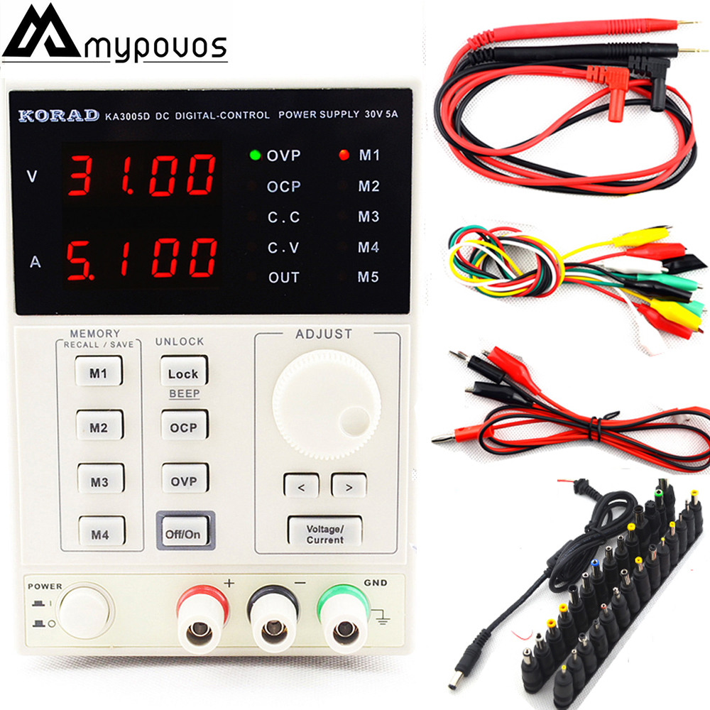 220V KA3005D high precision <font><b>Adjustable</b></font> Digital DC <font><b>Power</b></font> <font><b>Supply</b></font> <font><b>30V</b></font>/<font><b>5A</b></font> for scientific research service Laboratory 0.01V 0.001A image