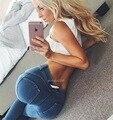 2016 Женщина Брюки джинсы Издание Высокой Упругой Заниженной Талией Формировании Сексуальный хип Моды Pantalones Фитнес Узкие брюки Для Женщин