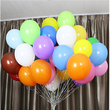 100 pcs / lot Latex Round  Balloons Thicken 12 inch 2.8 g wedding birthday party supplies kids toys