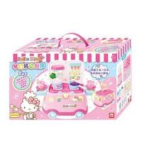 100FUN Fantasy Mobile Kitchen Children Cooking House Toys Magic Small Kitchen Educational Toys