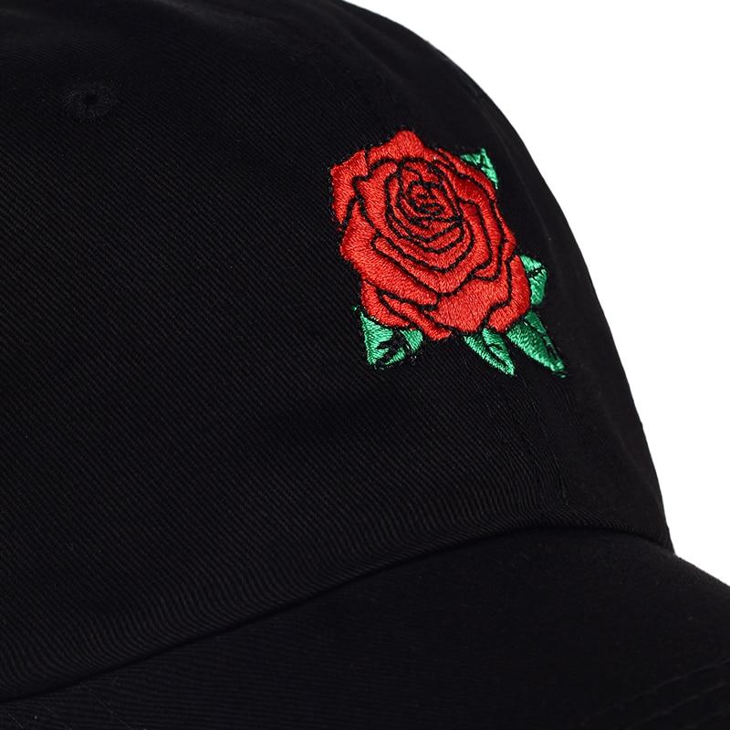 Summer Fashion Roses Men Women Solid Snap back Baseball Caps