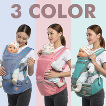 Multifunction Outdoor Kangaroo Baby Carrier with Hood Sling Backpack Infant Hipseat Adjustable Wrap for Carrying Children 717 24pcs lot cartoon easter bunny flowers cupcake toppers cute white rabbit cake pick hat party decorations baby birthday wedding