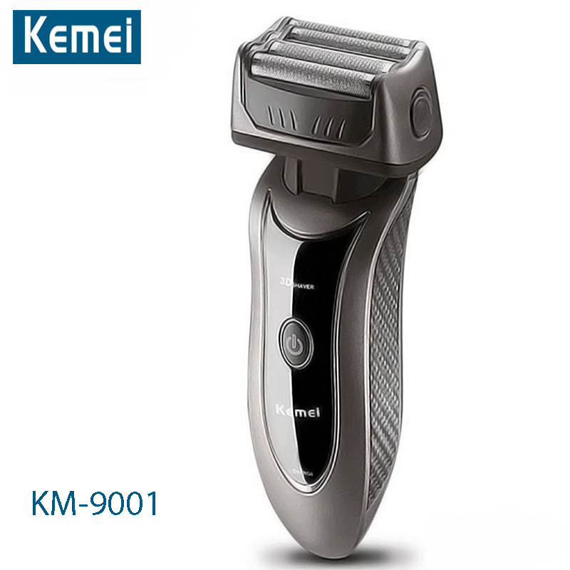 Kemei Rechargeable Electric Shaver 3D Beard Shaver Kemei Electric Razor Men Shaving Machine Trimmer Barbeador Face Care KM-9001 runwe electric shaver for men whole body washing razor touch electronic switch shaving machine barbeador face care rs988
