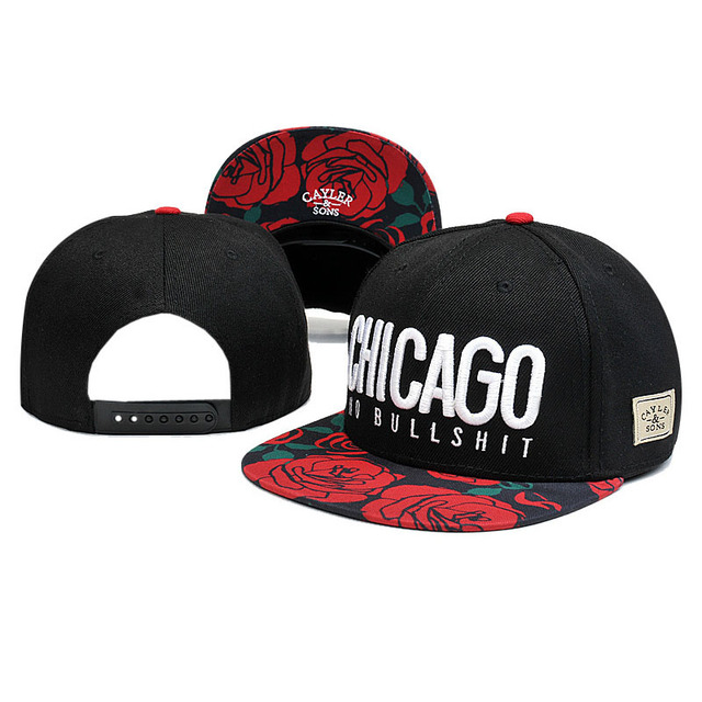 Chicago No Bullshit Cayler Brim Adjustable Hip Hop Sons Hat Snapback  Baseball Cap  Swag 5a69421d72a