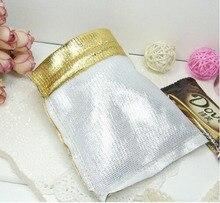 50 unids 9*12 cm bolso de lazo bolsas de mujer de la vendimia de oro para La Boda/Fiesta/de La Joyería/de la Navidad/bolsa de Envasado Bolsa de regalo hecho a mano diy