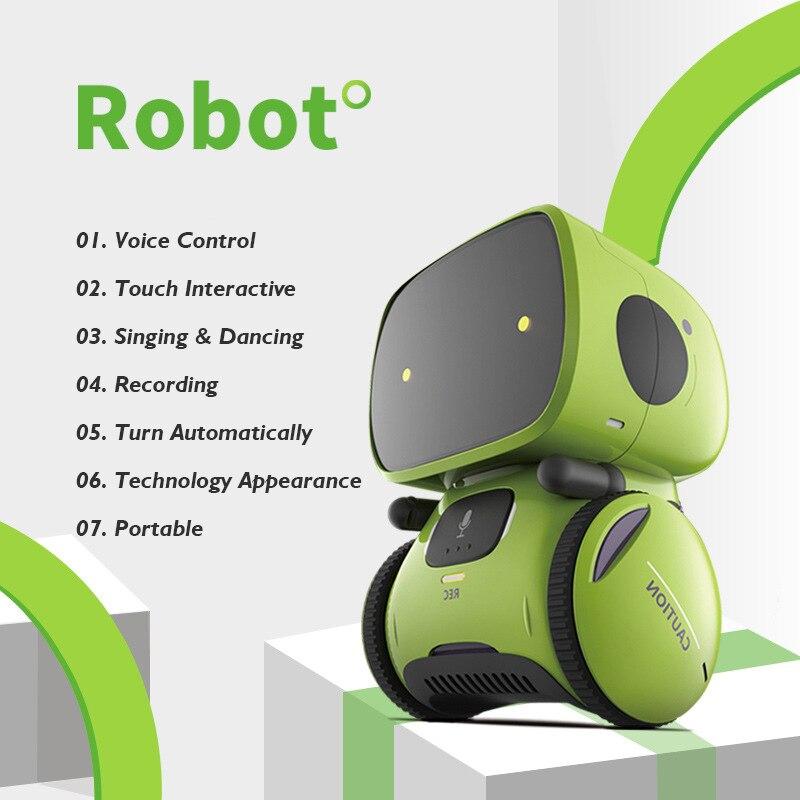 Милые танцы умный робот Программирование Интерактивная фигурка умный игрушка робот Робот жест для детей подарок на день рождения