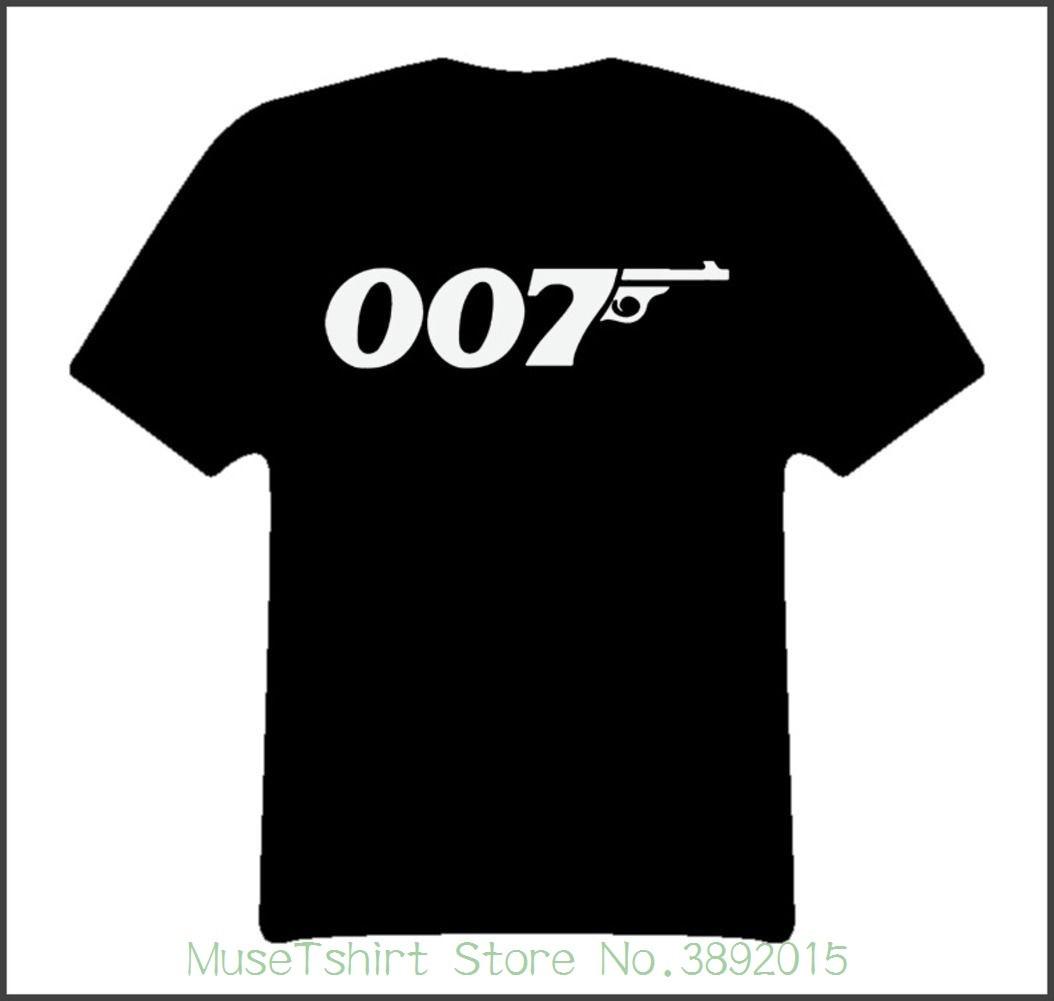 Cool Bond 007 Movies T Shirt T-shirts 2018 Brand Clothes Slim Fit Printing