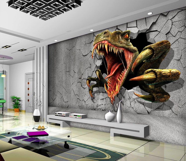 Buy 3d dinosaur wallpaper personalized for Custom mural cost
