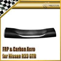 Car Accessories For Skyline R33 Auto Select Shibi Devil Style Carbon Fiber Rear Spoiler Blade Glossy Fibre Wing Trim Body Kit