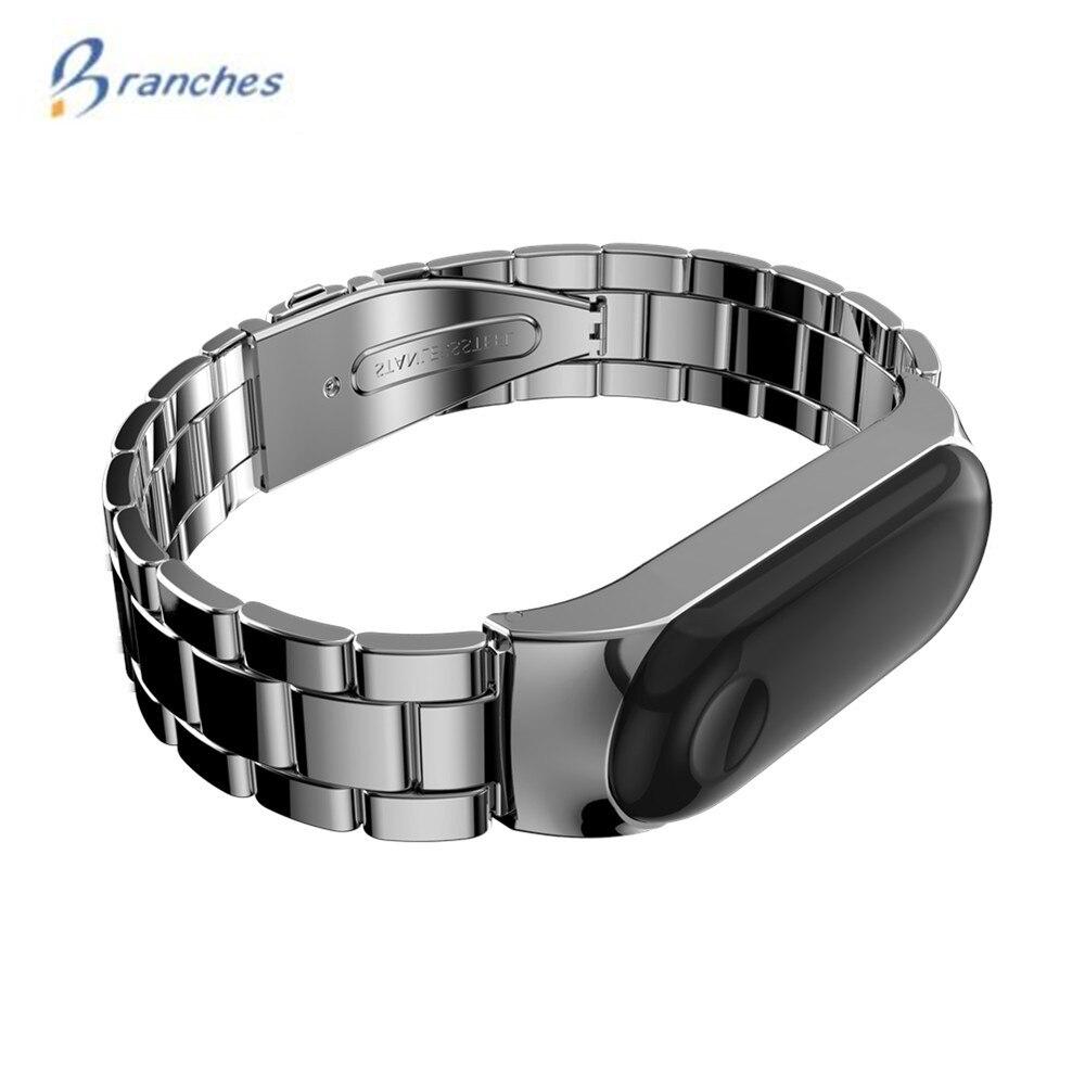 Mi Band 3 Wrist Strap Metal For Xiaomi Mi Band 3 Screwless Stainless Steel Bracelet Miband 3 Wristbands Pulseira Miband3 Strap