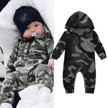 d2b5a7bcb Bebé niño camuflaje con capucha mameluco bebé recién nacido de camuflaje de  manga larga mameluco nuevo otoño cálido mono traje d.