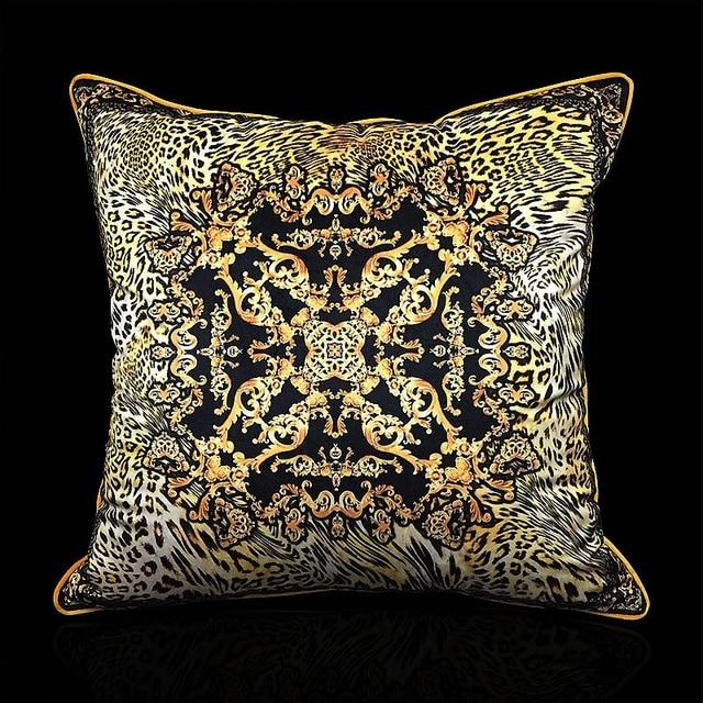 Classical Velvet Leopard Print Cushion Cover
