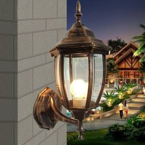 Outdoor Wall Light Exterior Bronze Fixture Retro Lantern American European Vintage Stlye Classic Garden Glass Porch Sconce Lamp