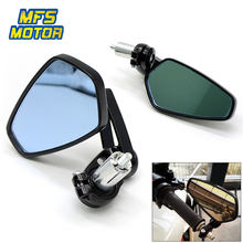 "Universal 22mm 7/8"" Motorcycle Handle Bar End Rearview Mirrors For Ducati Monster 1098 848 696 999 749 821796 1200 620 797 1100(China)"