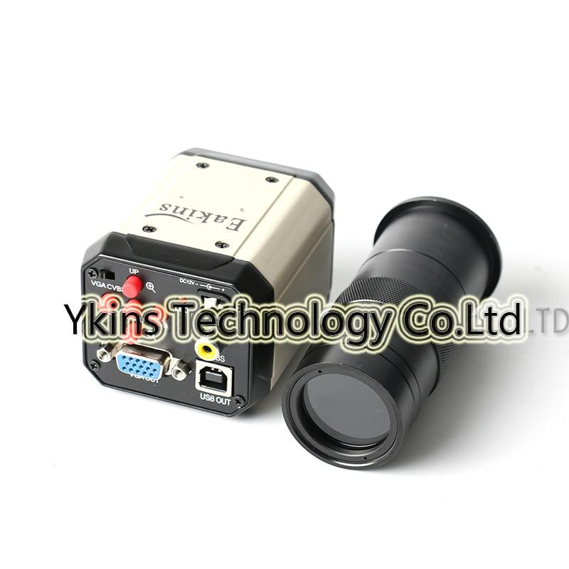 HD 2.0MP Industrial Digital Microscope Camera Lens VGA CVBS USB AV TV Output + 100X Zoom C-MOUNT Lens Combination free shipping 1 3 million hd digital vga industrial microscope camera mini 5x 100x c mount zoom lens