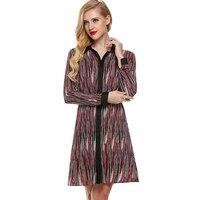 Элегантный осень-зима с длинным рукавом женская рубашка платье плюс большой Размеры офис Туника Одежда роковой vestidos Vestido де