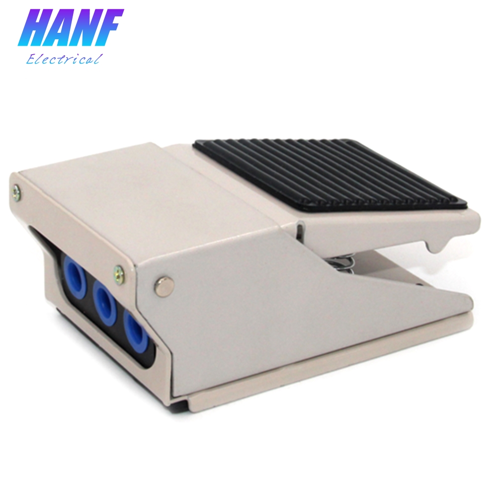 1pcs Aluminium Alloy Foot Pedal Switch Air Pneumatic Pedal Valve Switch 2 position 4 way 1 in 2 out Foot Switch 1 4 2 position 5 way air pneumatic foot pressure control valve st 402a x 1