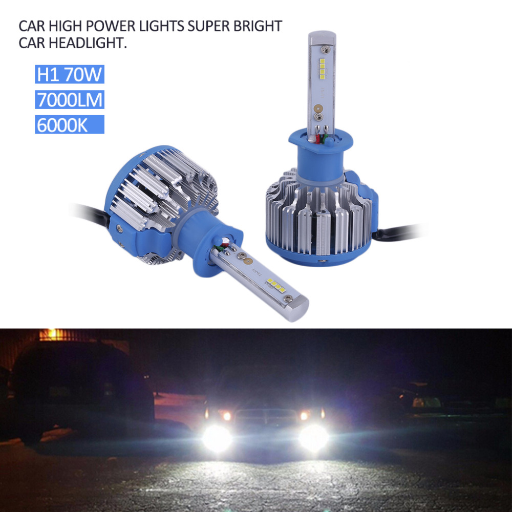 H1/H3/H7/H8/H9/H11/9005/HB3/9006/HB4/880/881/H27/9012/HIR2/H4 Car High Power Light Car Headlight Auto Front Lamp 7000lm 6000K цена