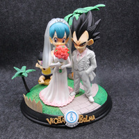 26cm Anime Dragon Ball Z Vegeta & Bulma Wedding Day Figure Model Toys
