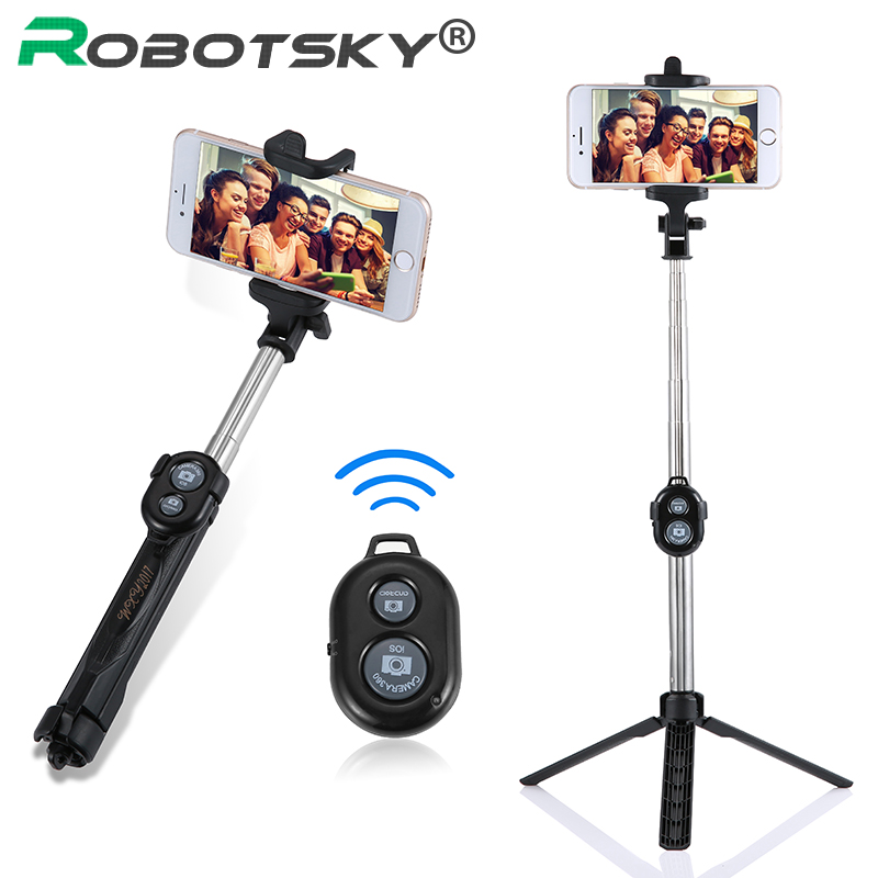 Extendable Self Selfie Stick Handheld Monopod+Bluetooth Shutter Remote Controller+Clip Holder for iPhone/Android Samsung HTC ect zd desktop clip on flexible cellphone holder for iphone samsung htc more black