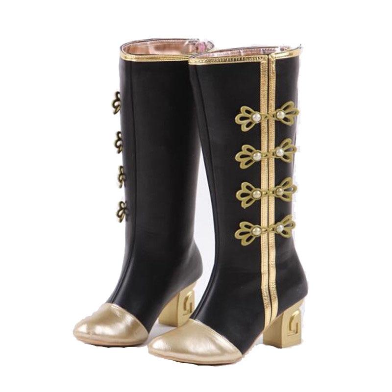 Hot Sale Lovelive Maki Nishikino Minami Kotori Awaken Love Live Cosplay Chinese  Honoka shoes  Black Fashion Boots for Women