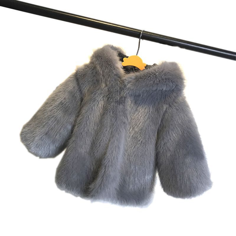 2018 Winter Baby Boys Girls Faux Fur Coat Hooded Outerwear Kids Fur Warm Clothes Children Autumn Winter Solid Parkas Jacket M05 цена