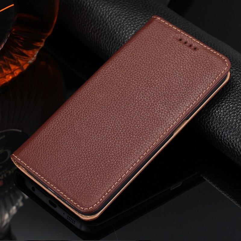 imágenes para Solque Verdadera Del Cuero Genuino Para Samsung Galaxy S6 Borde S 6 S6Edge Lujo Imán Soporte Tarjeta Tirón de la Cubierta Del Teléfono Móvil Casos