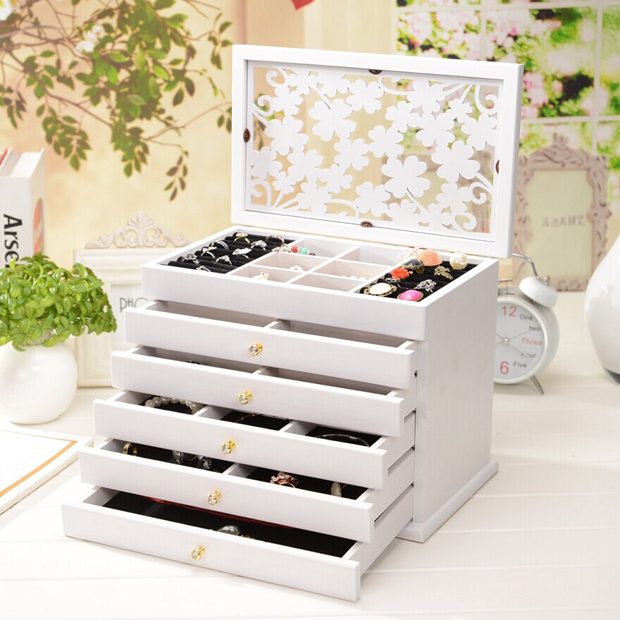 European solid wood casket jewellery box Princess Wedding Gift Box wedding gift