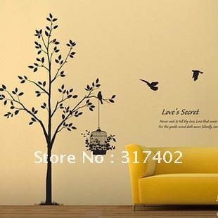 Free Shipping/Wholesale And Retail,New PVC Wall Sticker Wallpaper Home Decor Wall Art Mural/The secret of love,HPA-09