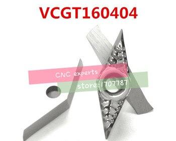 Free shipping  50PCS aluminum carbide insert VCGT160404, CNC lathe tool, suitable for aluminum processing, insert SVQCR/SVUCR