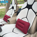 Universal Car back support Inflatable for office home camping bed headrest neck support pillow Comfortable Portable red blue