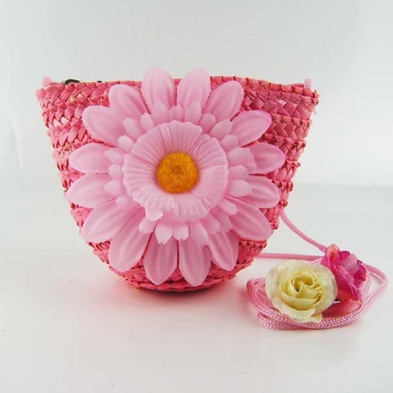 Kleine Pures Strand Pouch Bolso stroh Brieftasche 8 Handtasche Stricken Blumengeldbörse Kreuzkörper Mini Kinder Bolsa Us6 Beutel 15Off Für 3jR5AL4