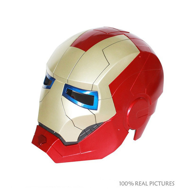 Caja de Color embalaje The Avengers Iron Man máscara casco de moto ...