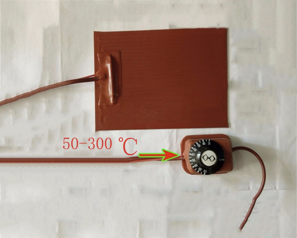 Universal Silicone Heater, 600*600MM 600W  230V, 3M Adhesive Backing, Flexible Heating Element 3d stampante heating  thermostat