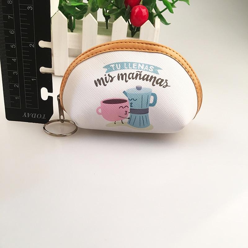 Rainbowgirl 2017 PU Leather Spain Style Coin Purse penalties womens wallet white cute purse female small a bag zipper purse