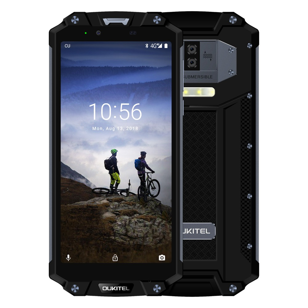OUKITEL WP2 IP68 Waterproof Dust Shock Proof Mobile Phone 6.0inch 4GB+64GB MT6750T Octa Core Android 8.0 10000mAh NFC Smartphone-in Cellphones from Cellphones & Telecommunications    2