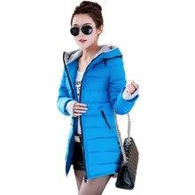 New Winter 2017 Women's Down Jacket Female Cotton Jacket Wadded Clothing Slim Plus Parkas Ladies Coats Size M-XXXL