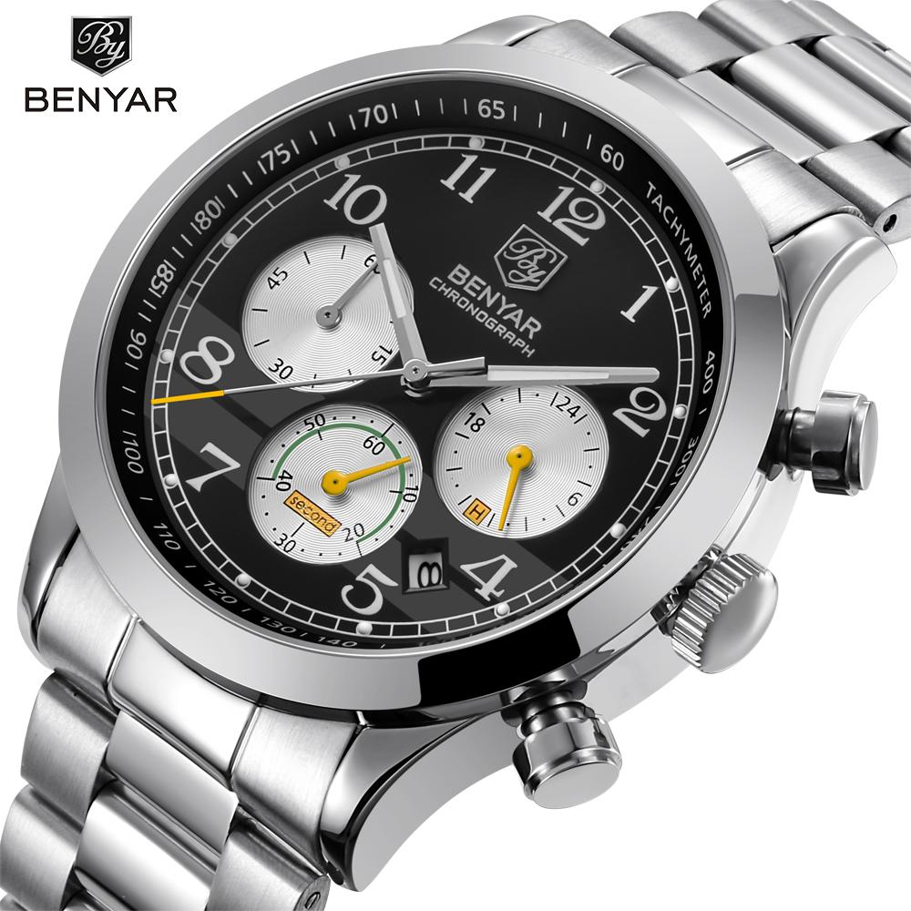 BENYAR-Luxury-Brand-Chronograph-Men-Sports-Watches-Waterproof-Full-Steel-Leather-Quartz-Men-s-Watch-Relogio