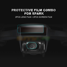 4Pcs Camera Lens Protective Film Drone Body Screen Film Flexible Fiberglass Film Set Membrane for DJI SPARK pad pasting